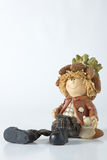 Vintage German toy dwarfs with corn royalty free stock images