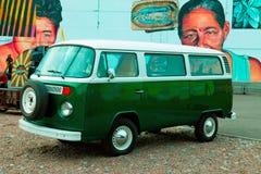 Vintage German Van Stock Photo