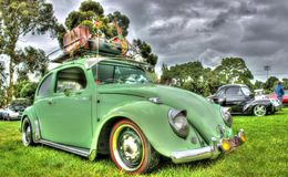 Vintage German Volkswagen Beetle Stock Photography