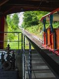 Vintage giessbach rail waiting in the station Royalty Free Stock Photography