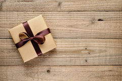 Vintage gift box with bow Stock Image