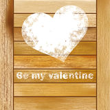 Vintage gift box with heart.  + EPS8 Royalty Free Stock Photo