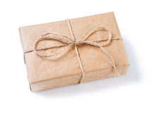 Vintage gift box isolated Stock Images