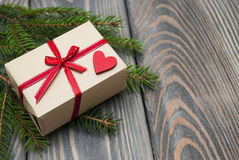 Vintage gift box package Royalty Free Stock Photography