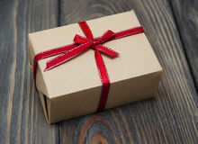 Vintage gift box package Stock Photography