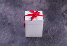 Vintage gift box on wooden background. Royalty Free Stock Photos