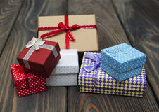 Vintage gift boxes  package Royalty Free Stock Images