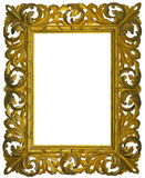 Vintage gilded wooden Frame Isolated Royalty Free Stock Images