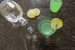Vintage Gin Gimlet cocktail Royalty Free Stock Photography