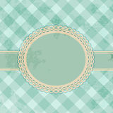 Vintage gingham label background Stock Photo