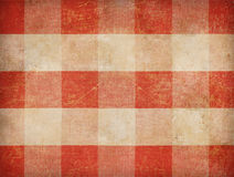 Vintage gingham tablecloth background Stock Images