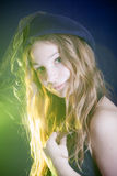 Vintage girl Stock Image