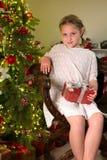 Vintage girl at christmas Stock Photography