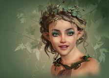 Vintage Girl, 3d CG Royalty Free Stock Image