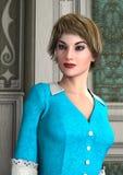 Vintage Girl Stock Photo