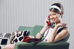 Vintage girl Stock Photography