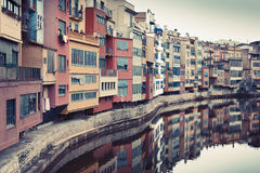 Vintage Girona Stock Photography
