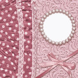 Vintage glamour background with dotted textile Stock Photography