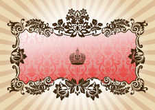 Vintage glamour frame red Stock Photography