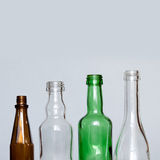 Vintage glass bottles. different size, colors Stock Image
