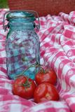 Vintage Glass Canning Jar Royalty Free Stock Images