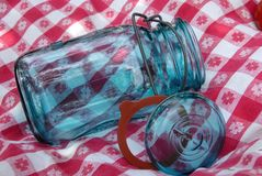 Vintage Glass Canning Jar Stock Images