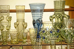 Vintage glass goblets Royalty Free Stock Images
