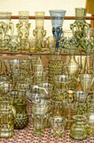 Vintage glass goblets Stock Photography