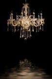 Vintage glass lamp black background Royalty Free Stock Photos