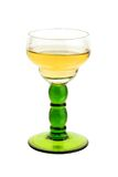 Vintage glass with white wine Stock Photos