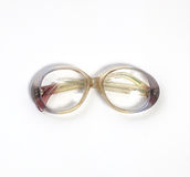 Vintage glasses isolated on a white Royalty Free Stock Image