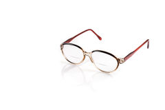 Vintage glasses on white background Royalty Free Stock Photo