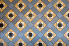 Vintage glazed tile. In blue and cream color scheme Stock Photography