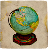 Vintage Globe. Vintage Tin Globe stock photos