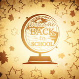 Vintage Globe Back to School Royalty Free Stock Image