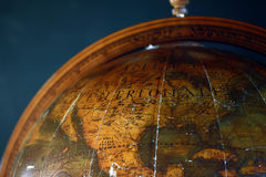 Vintage globe. Close up of old vintage globe Royalty Free Stock Image