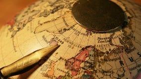 Vintage Globe. Close up of old vintageglobe stock video footage