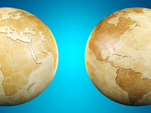 Vintage globe isolated, 3D render Royalty Free Stock Image