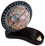 Vintage globe isolated on white Royalty Free Stock Photography