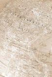 Vintage Globe Map. Sepia Tone Globe Map royalty free stock photo