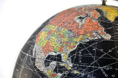 Vintage Globe: North America Royalty Free Stock Images