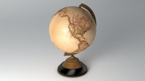 Vintage Globe. Vintage-Old Globe Golden Retro Royalty Free Stock Photography