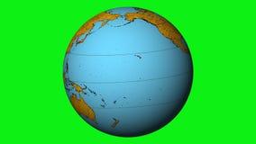 Vintage globe rotate