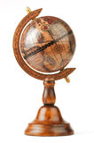 The vintage globe, separately on a white background Stock Photos