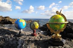 Vintage Globes Planet Earth Royalty Free Stock Photos