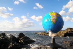 Vintage Globes Planet Earth Royalty Free Stock Photo