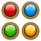 Vintage glossy buttons Stock Photos