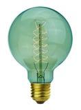 Vintage glowing light bulb Stock Photos