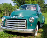 Vintage GMC Pickup Truck. A green vintage General Motors Corp pickup truck royalty free stock images