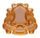 Vintage gold background, 3D jewelry frame on isolated white. Stock Photos
